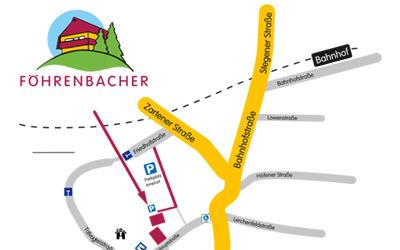 Anfahrt zu Föhrenbacher Kirchzarten