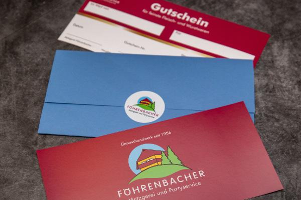 Geschenkgutscheine - Föhrenbacher Metzgerei, Partyservice und Pension in Kirchzarten bei Freiburg